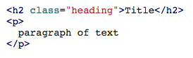 Markdown for HTML code