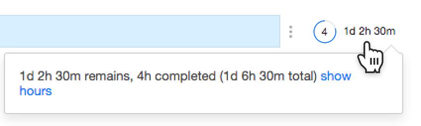 Progress counter details